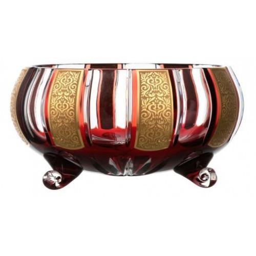 Mísa Romance zlato, barva rubín, průměr 255 mm