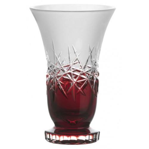 Váza Hoarfrost, barva rubín, výška 205 mm