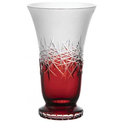 Váza Hoarfrost, barva rubín, výška 305 mm