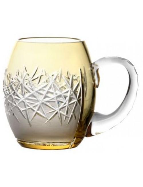 Sklenice na pivo Hoarfrost, barva amber, objem 500 ml