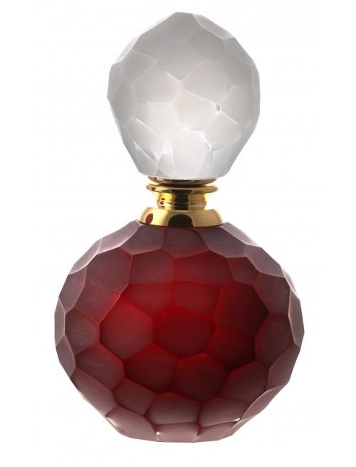 Flakon Kuličky podjímané III, barva rubín, objem 100 ml