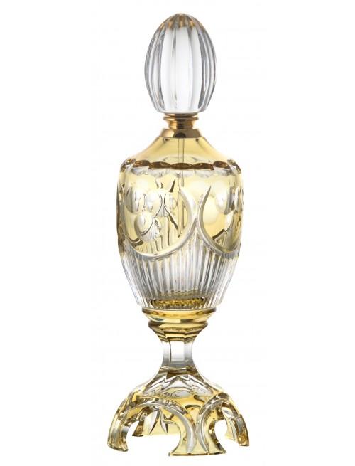 Flakon Diadem+zl. kování+tyčinka, barva amber, objem 250 ml