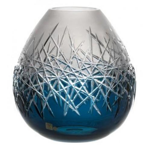 Váza Hoarfrost, barva azurová, výška 165 mm