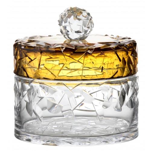 Dóza Floe podjímaná, barva amber, výška 165 mm