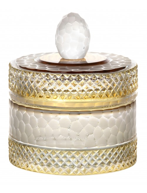 Dóza, barva amber, výška 165 mm