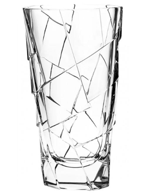 Váza Crack, barva čirý křišťál, výška 305 mm