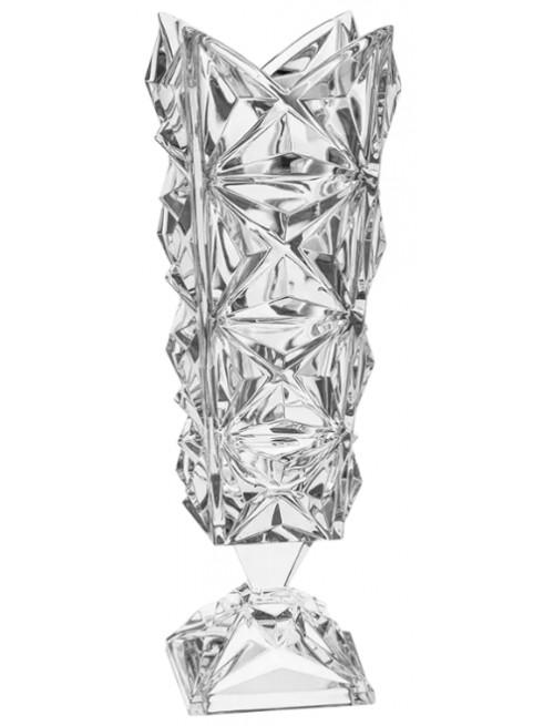 Váza Pyramida, barva čirý křišťál, výška 382 mm