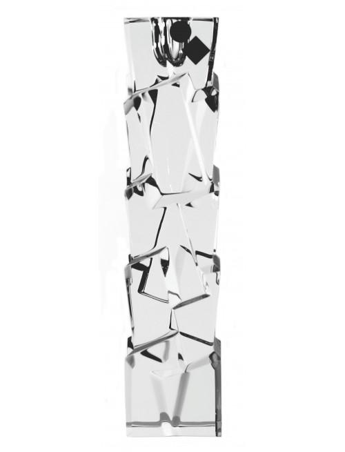 Svícen Crack, barva čirý kříšťál, výška 230 mm