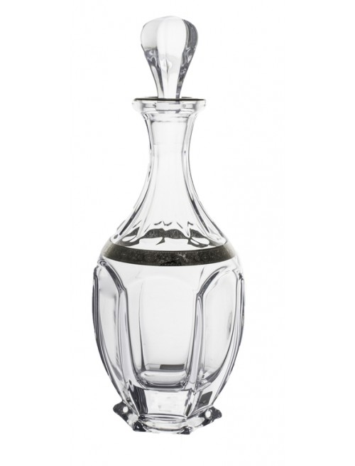 Láhev Safari platina, bezolovnatý crystalite, objem 800 ml