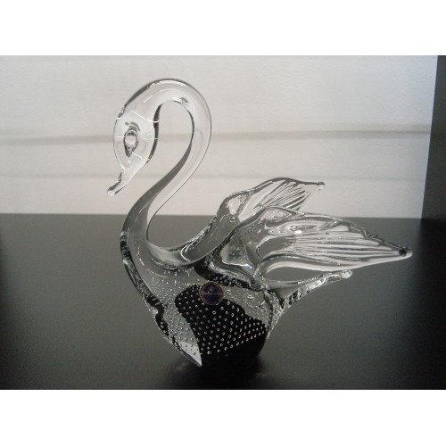 Labuť malá hutní sklo, výška 200 mm