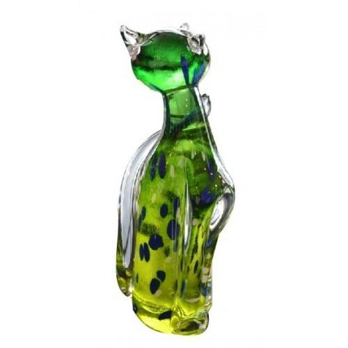 Kočka hutní sklo, výška 170 mm