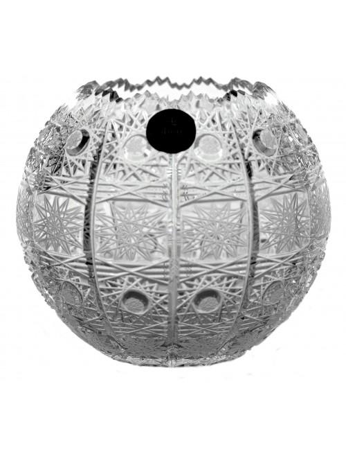Váza 500PK III, barva čirý kříšťál, výška 132 mm