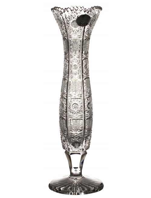Váza 500PK V, barva čirý křišťál, výška 230 mm