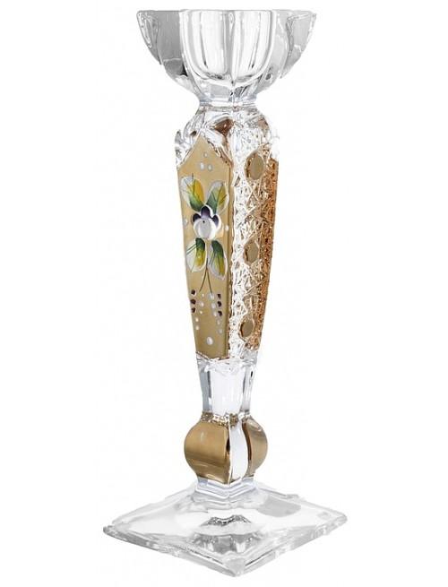 Svícen 500K Zlato, bezolovnatý crystalite, výška 210 mm