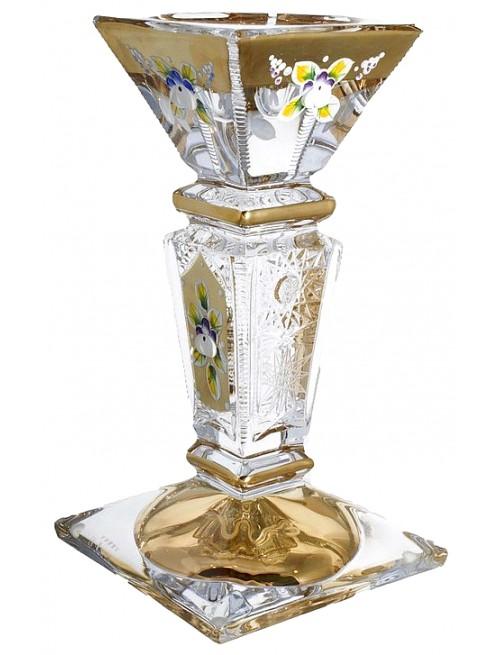 Svícen 500K Zlato, bezolovnatý crystalite, výška 205 mm