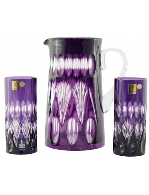 Set Zora, barva fialová, objem 1450 ml + 2x350 ml