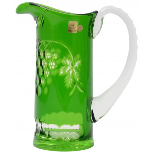 Džbán Grapes, barva zelená, objem 900 ml
