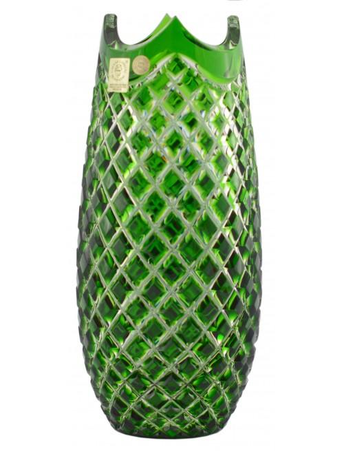 Váza Quadrus, barva zelená, výška 230 mm