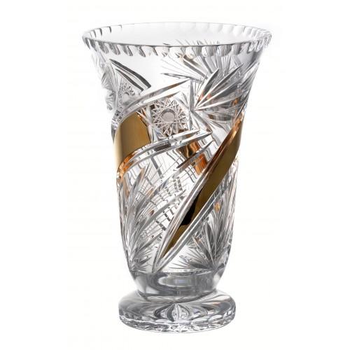 Váza Kometa Zlato, barva čirý křišťál, výška 305 mm